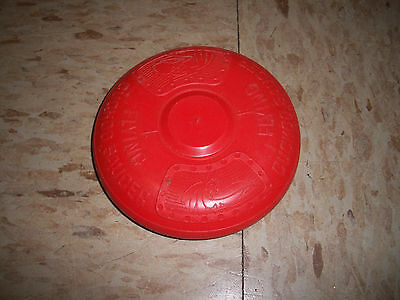 1970s General Mills Cocoa Puffs Cereal Cuckoo Flying Saucer Red Frisbee Disc!