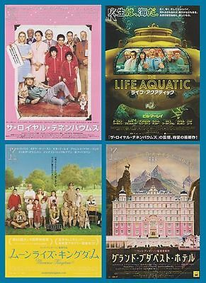WES ANDERSON - set of 4 Japanese chirashi flyers