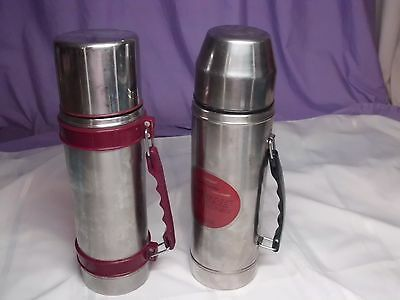 Uno-vac  Thermos Stainless Steel Unbreakable  + another stainless steel thermos.