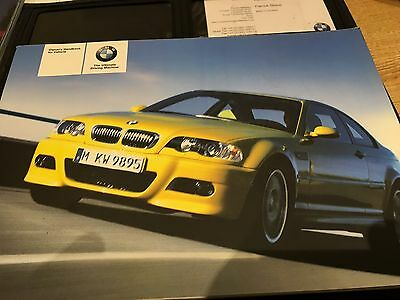 BMW M3 Owners Manual Handbook Includes Leather Wallet & Service booklet  E46