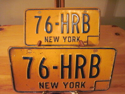 Vintage License Plate New York State Collectible Pair of  Plates