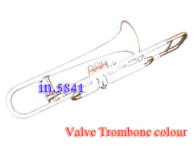 White-Trombone-Valve-Colored Finish-Bb-Professional-With-Mp-Hard-Case-Trumbones.