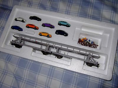 Trix Ho 23974 Car Transporter Wagons with Cars, Mint Boxed, Unused