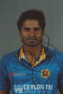 SRI LANKA * KUSAL PERERA SIGNED 6x4 PORTRAIT PHOTO+COA
