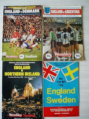 England football programmes - 4 in total