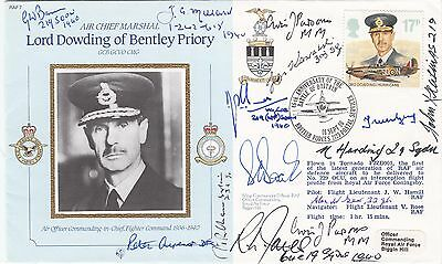 Cmd7 46th Anniv Battle of Britain Lord Dowding Signed 13 involved Battle of Brit