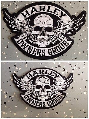 Harley Owners Group Large & Small Skull Patch