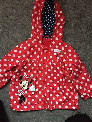 Girls 12-18 Months Minnie Mouse Spring Coat