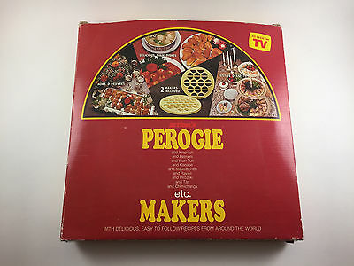 Action's Perogie etc. Maker Press Makes 2 Large Makers in 2 Sizes W/ Recipes NEW