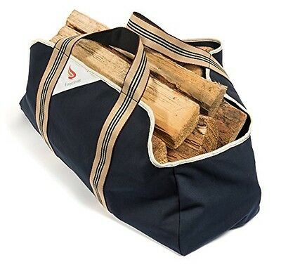 Firecorner - Collapsible, Dust-Proof Firewood Log Carrier - Wood bag with smooth