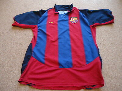 Nike BARCELONA 2003 / 04 Season HOME Football Soccer Shirt L