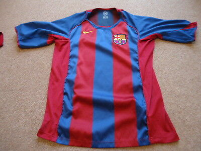 Nike BARCELONA 2004 / 05 Season HOME Football Soccer Shirt L