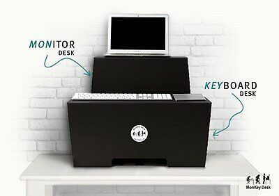 ROOM IN A BOX | MonKey Desk Faltbares ergonomisches Stehpult, Standing Desk