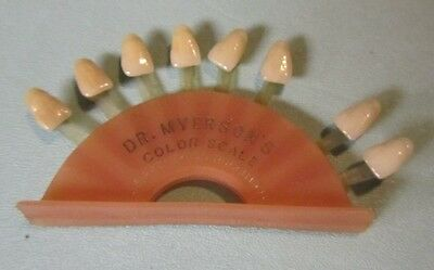 Vintage 1940's Myerson Tooth Corporation Color Scale Cambridge MA Dentist Sample
