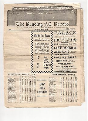 Reading FC v Cardiff City FC 1932/33 Division 3 South Pre-War !