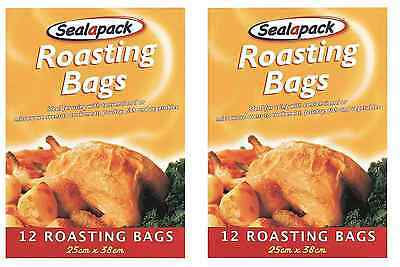 24 X Large Roasting Bags Mircowave Oven Cooking Poultry Chicken Turkey Meat Fish