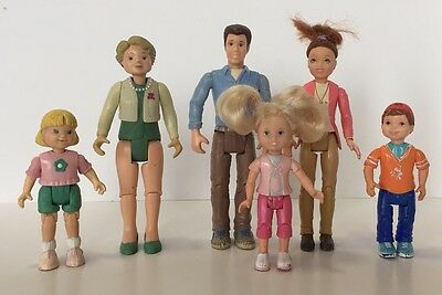 Fisher Price Loving Family Dollhouse People Dolls Mom Dad Grandma Brother Sister
