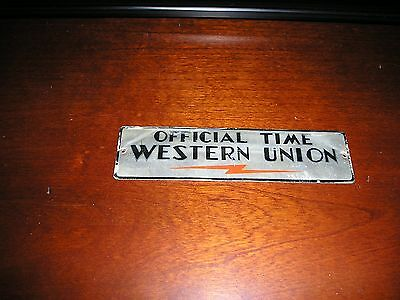 """Western Union """"Official Time"""" sign"""