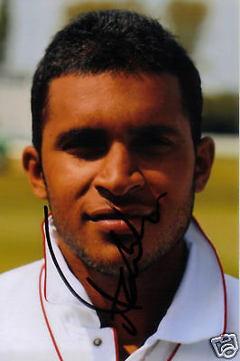 ENGLAND: ADIL RASHID SIGNED 6x4 PORTRAIT PHOTO