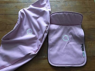 Bugaboo Cameleon 3 Soft Pink Fabric Set ( Extendable Hood & Apron ) Ex Condition