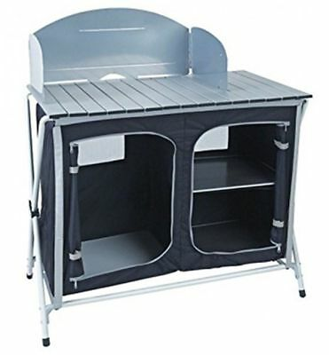 Royal Easy Up Folding Kitchen Stand Storage Unit Portable Camping Cooking