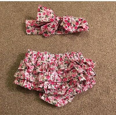 Baby Frilly Knickers And Head wrap / Photo Prop
