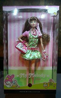 My Melody Barbie Doll Hello Kitty Sanrio 2007 Steffie Model Muse Pink Green
