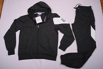 New Mens Moncler Tracksuit Grey Hooded Zip Jacket + Bottom Pants size S