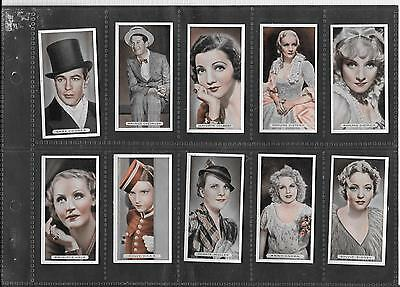 Ardath - Famous Film Stars - 1934 - Set Of 50 Cards In Sleeves