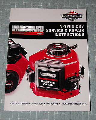 1989 Vanguard V-Twin OHV Service & Repair Instructions Manual, Briggs & Stratton