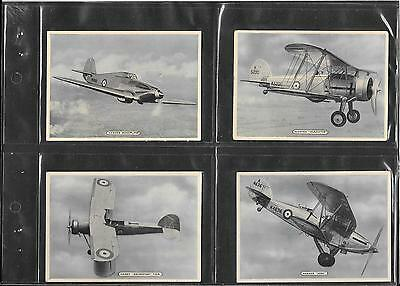 Ardath - Fighting & Civil Aircraft - 1936 - Set Of 25 Large Cards In Sleeves
