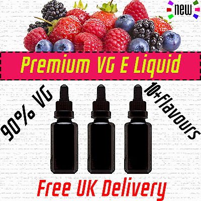 30ml - 90ml E Refill Juice 10+  Flavours Cloud Chaser SUB OHM 90VG 3-6mg Liquid