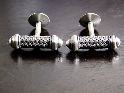 Dynamic 1920's 'ART DECO COIN SILVER CUFFLINKS', Beautiful Rare Estate Set