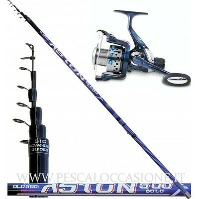 Kit Pesca Bolognese Canna Aston e Mulinello Drake SP
