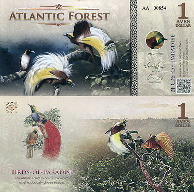 ATLANTIC FOREST - 1 aves dollar 2015 FDS UNC