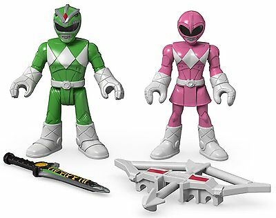 Imaginext Mighty Morphin Power Rangers; Green Ranger & Pink Ranger - NEW