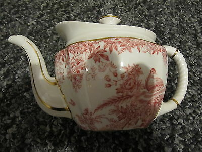 Vintage  Royal Crown Derby Aves Small Teapot