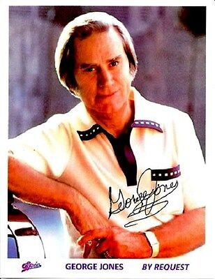"""George Jones hand-signed 8 X 10 glossy photo promo """"By Request""""  Album,  EPIC  C"""