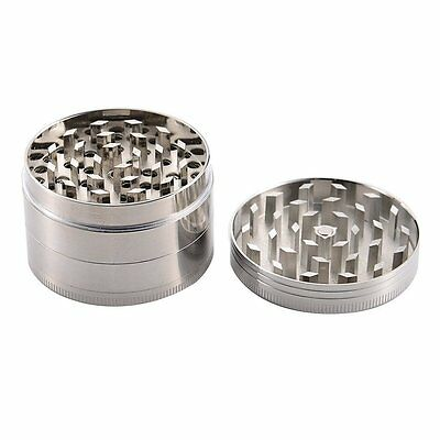 "2"" Tobacco Herb Spice Grinder 4 Piece Herbal Alloy Smoke Metal Chromium Crusher"