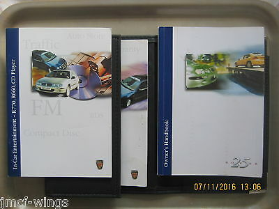 Rover 25 Owner's Handbook, Wallet, In-car Entertainment and other Documents.