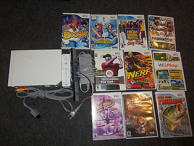 Nintendo Wii Console and 10 Games Mario Sonic