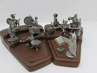 1970's Hudson Pewter - Strike Up The Band - 11 Piece Set + Stands!