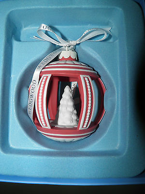 Wedgwood CORAL JASPERWARE Christmas Tree Ornament Cut Out Tree NEW IN BOX