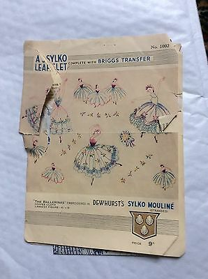 Vintage Sylco Leaflet Complete With Briggs Transfers No 1002
