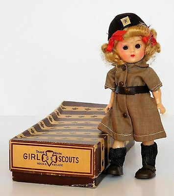 """RARE Vintage 1956-58 OFFICIAL BROWNIE SCOUT DOLL 8"""" GINGER 11-956 by TERRI LEE"""