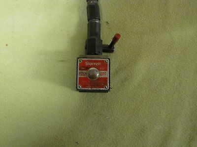 Starrett No. 657 Flexible Indicator Holder With Magnetic Base Excellent