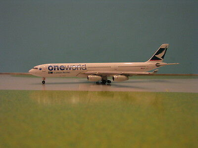 """Phoenix Model Cathay Pacific """"one World"""" A340-300 1:400 Scale Diecast Model"""