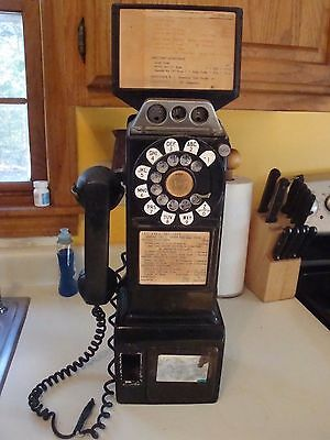 Bell System 3 slot payphone telephone Estate Find No Reserve