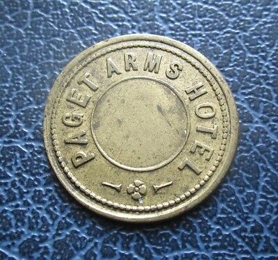 Paget Arms Hotel 3d Brass Pub Token / Check