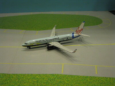 "Phoenix Model Virgin Blue ""head To Queensland"" 737-800 1:400 Scale Diecast Model"
